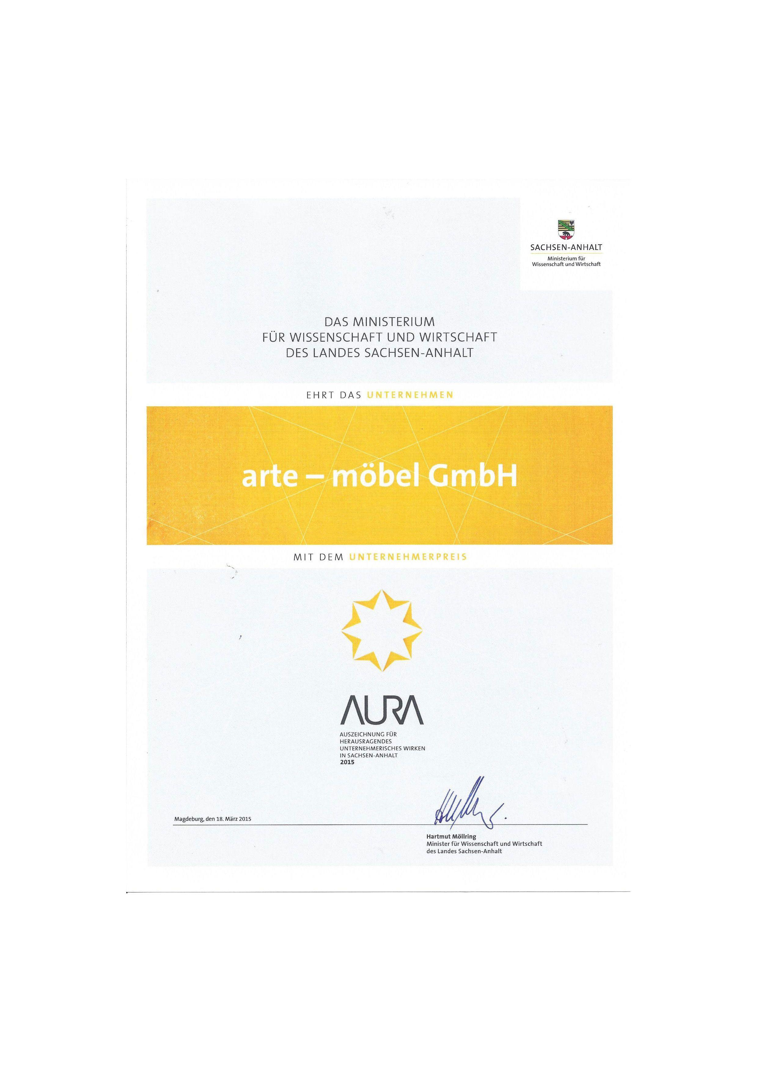 auszeichnungen und zertifikate